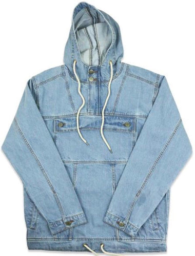 Ethik, Denim Anorak, Light Stone Wash