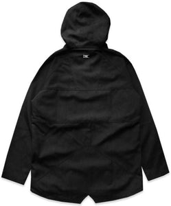 Ethik, Hitman Extended Fishtail jacket, Black