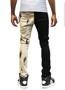 Reed Premium Washed Skinny Half and Half Twill Pants
