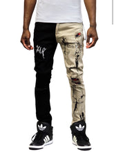 Load image into Gallery viewer, Reed Premium Washed Skinny Half and Half Twill Pants