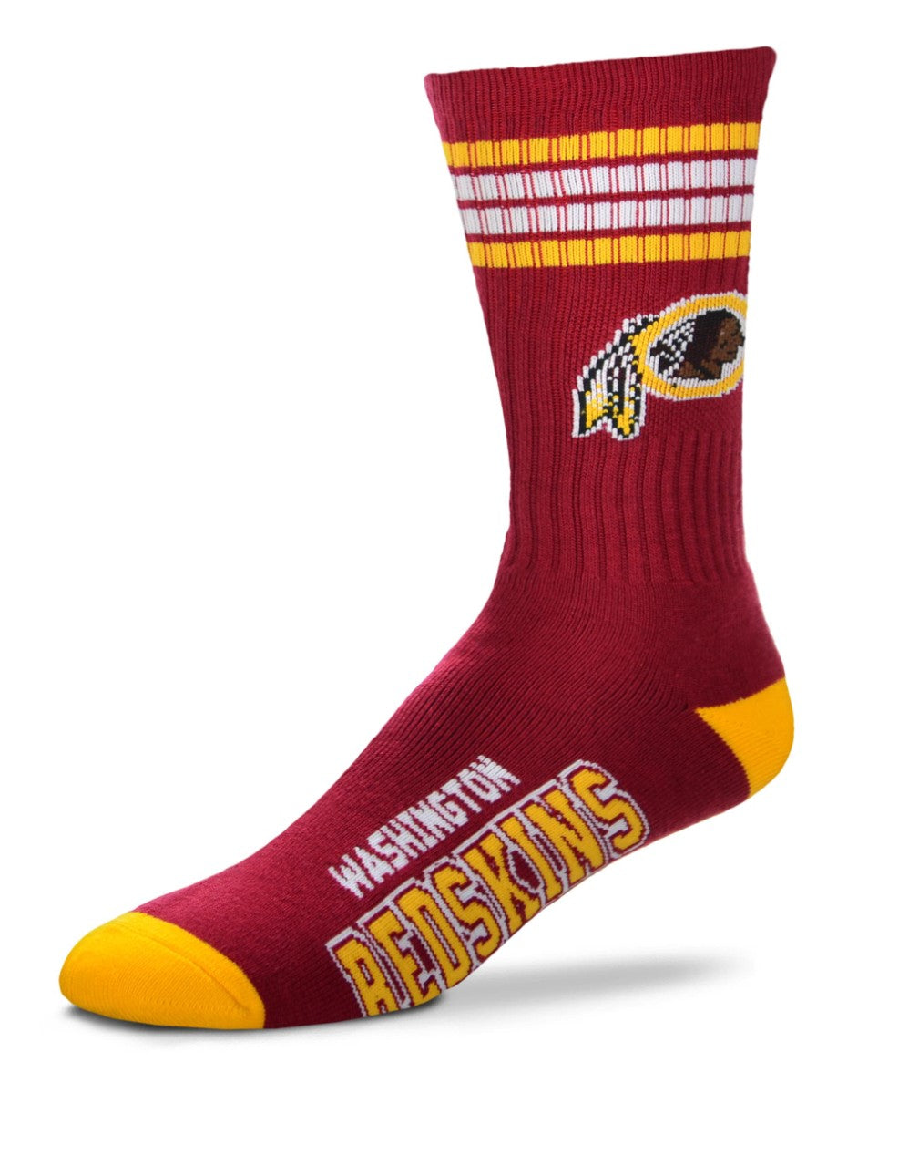 For Bare Feet Redskins 4-Stripe Socks