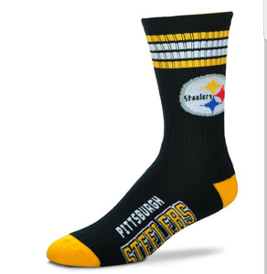 For Bare Feet Steelers 4-Striped Socks