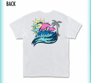 Pink Dolphin Roll Tide Tee