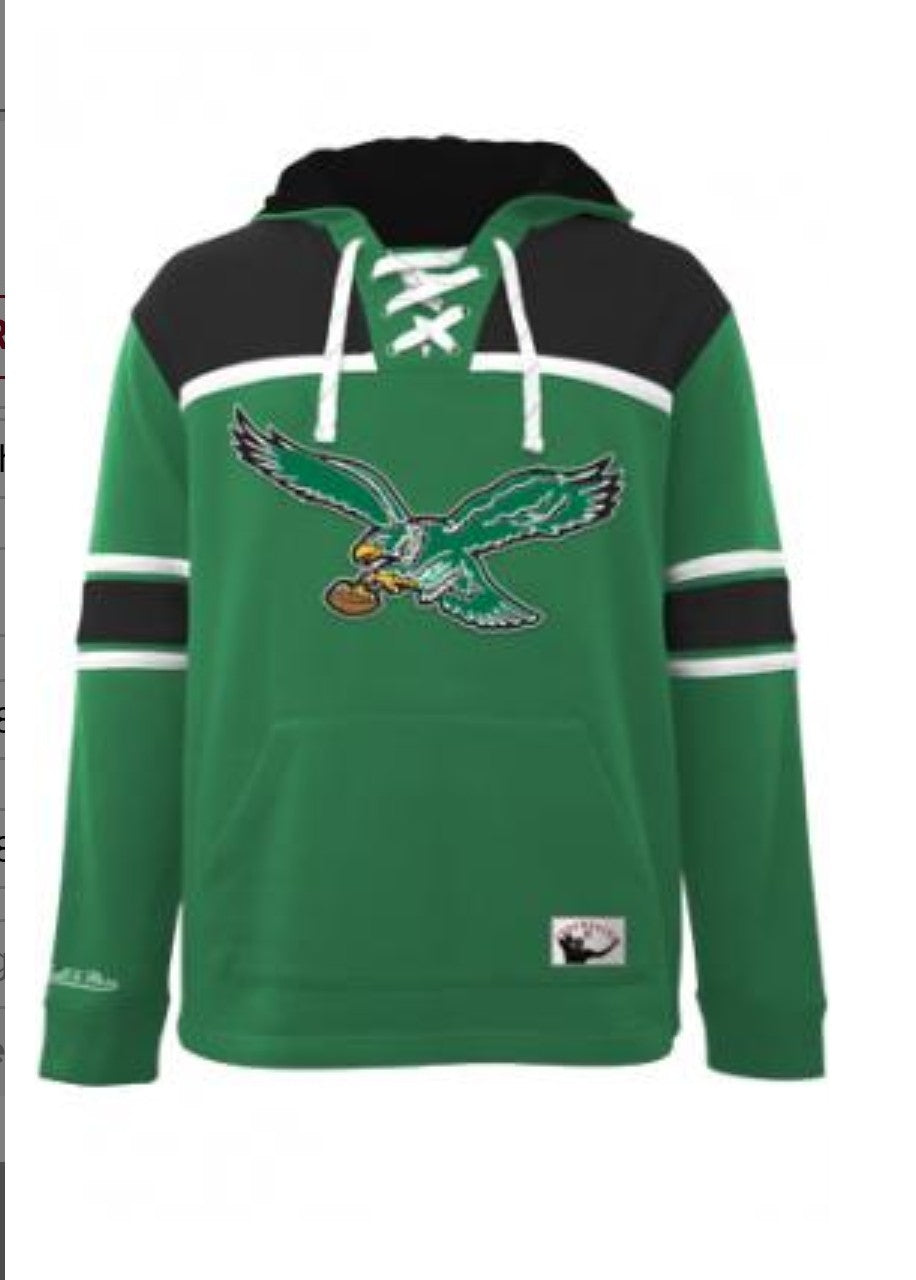super popular 000ac 38b42 Mitchell & Ness Eagles Hockey Fleece Hoodie