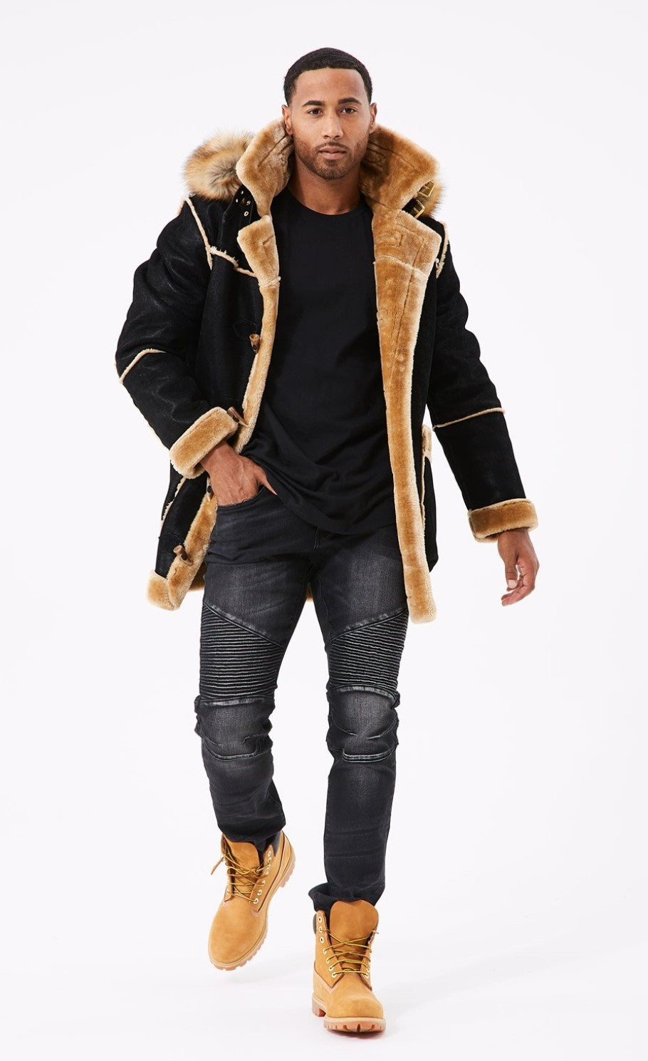 Jordan Craig Denali Shearling Jacket ( Black Coffee)