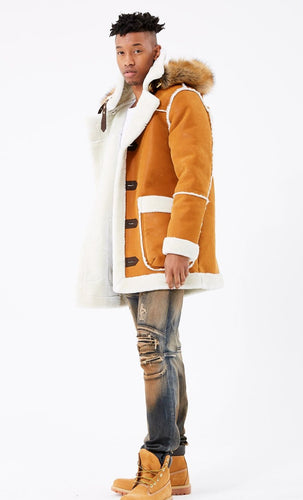 Jordan Craig Denali Shearling Jacket (Burnt Orange)