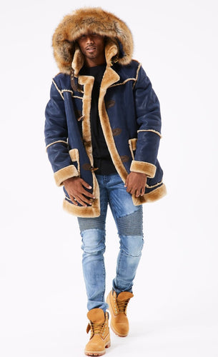Jordan Craig Denali Shearling Jacket ( Midnight Blue)