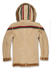 Load image into Gallery viewer, Jordan Craig Tuscany Striped Shearling Jacket ( Latte )