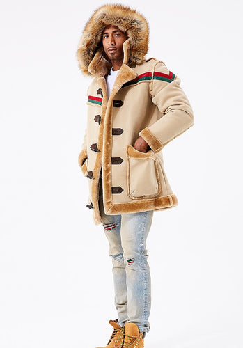 Jordan Craig Tuscany Striped Shearling Jacket ( Latte )