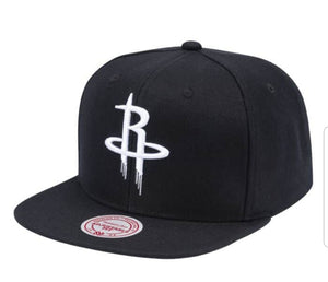 Mitchell & Ness Wool B/W Snapback Houston Rockets
