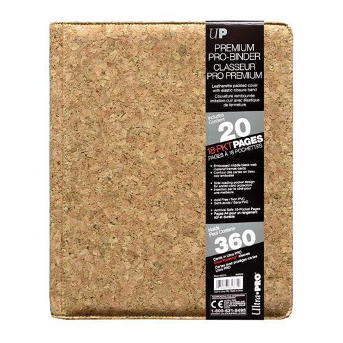 Ultra Pro 9-Pocket Premium PRO-Binder Cork (9 Pocket, Holds 360 Cards)