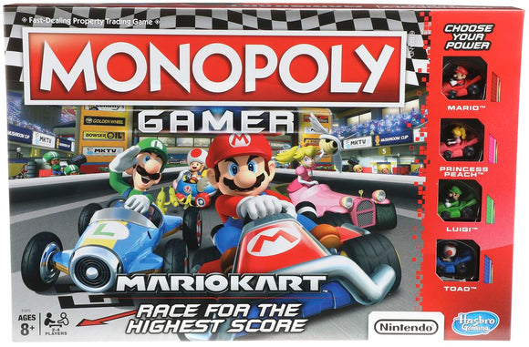 Monopoly Gamer Mario Kart Board Game by Hasbro