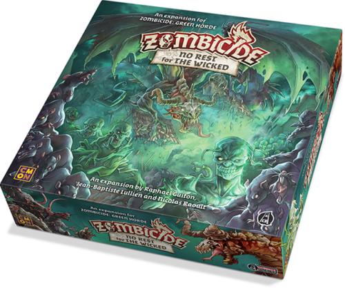 Zombicide Green Horde - No Rest For The Wicked Expansion Board Game by Guillotine Games
