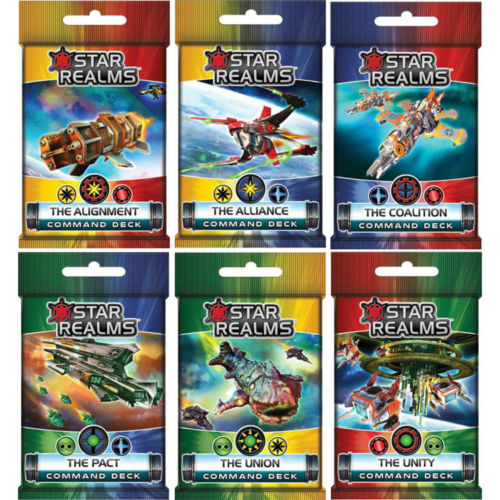 Star Realms Frontier Deck Building Game Command Decks by WWG