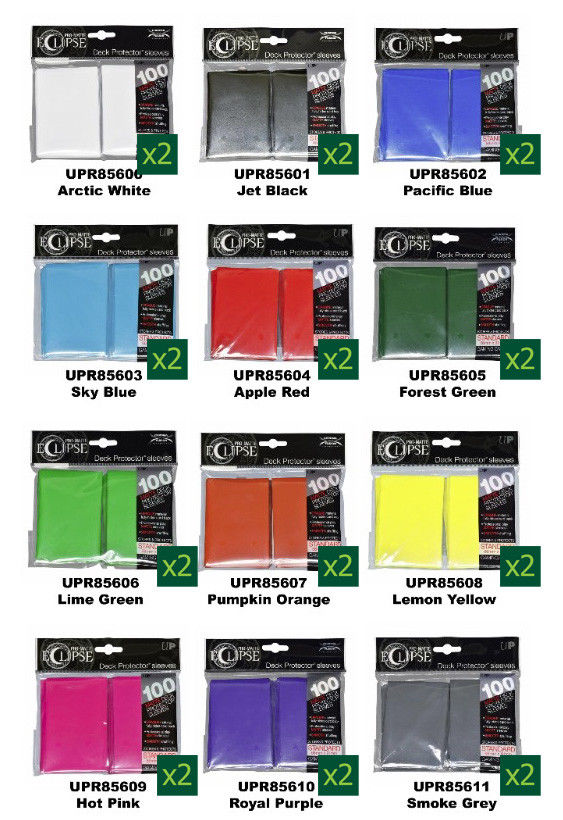Ultra Pro Eclipse Card Sleeves (2 x 100 packs) - Deck Protector Standard Size -