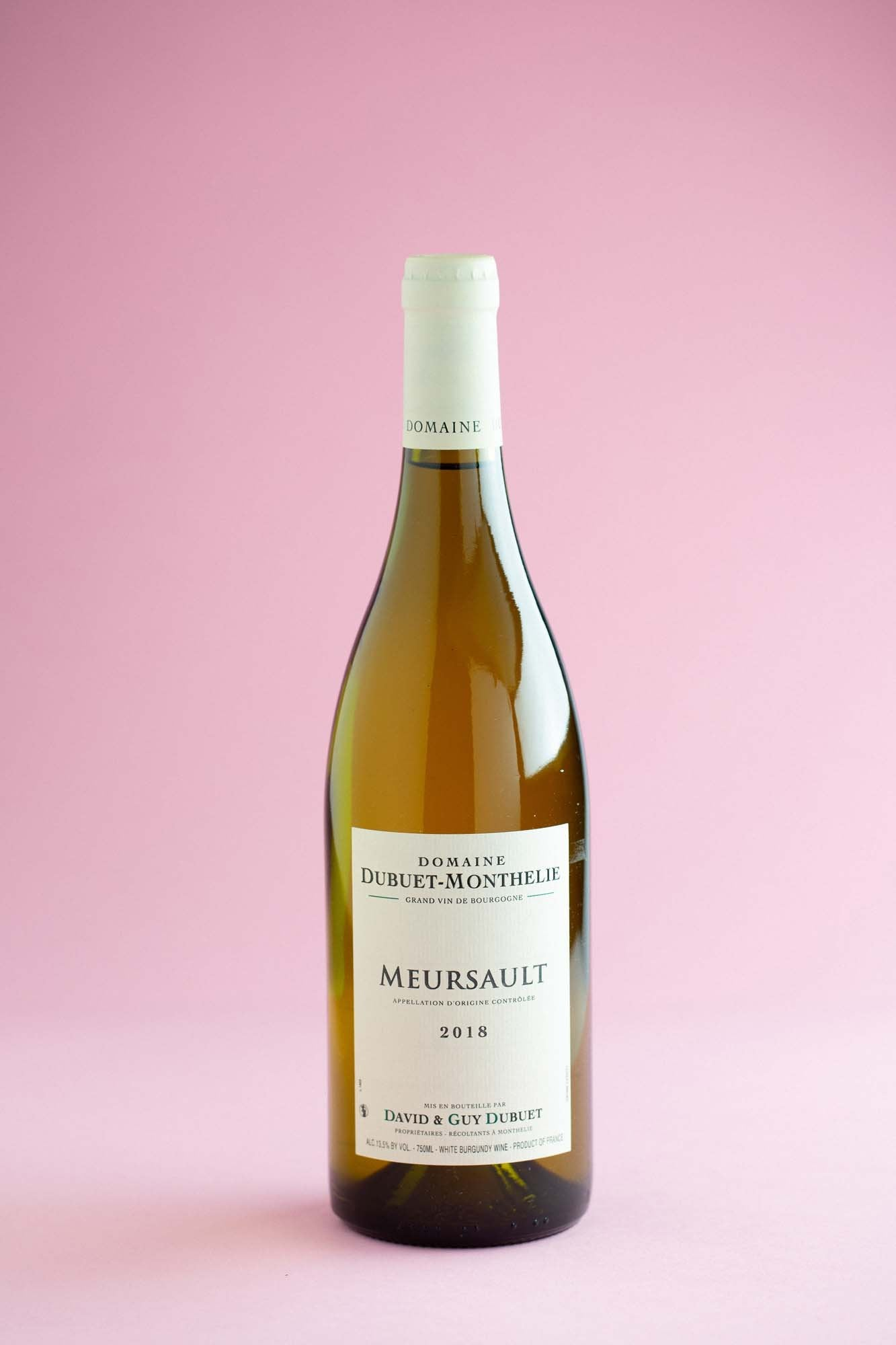 2018 Meursault, David & Guy Dubuet, Burgundy, France