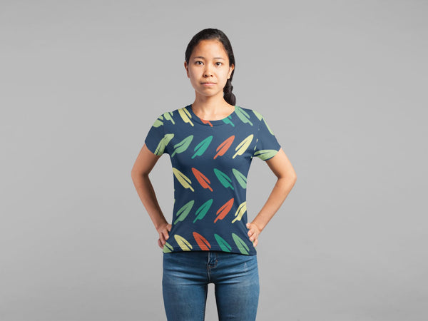 Abstract Leave Pattern Classic Sublimation Women's T-Shirt