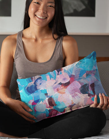 Painted Rectangle Pillow