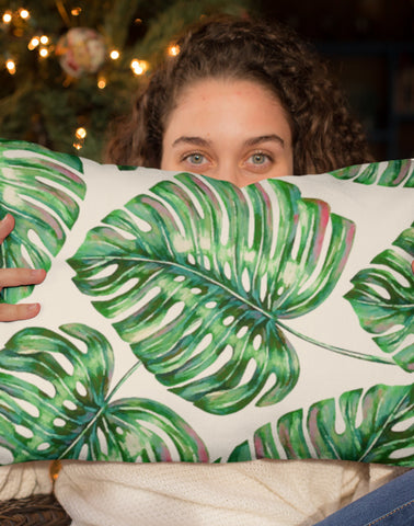 Palm Leaves Rectangle Pillow