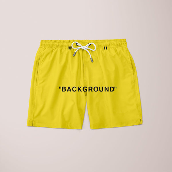 Background Off-white Yellow Shorts
