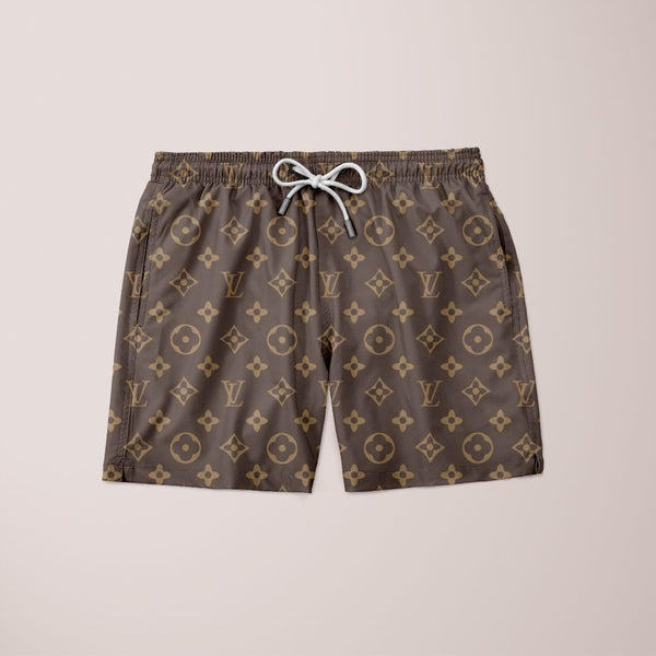 LV Brown Pattern Shorts