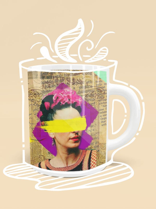 FRIDA KAHLO - COLLAGE ART Mug