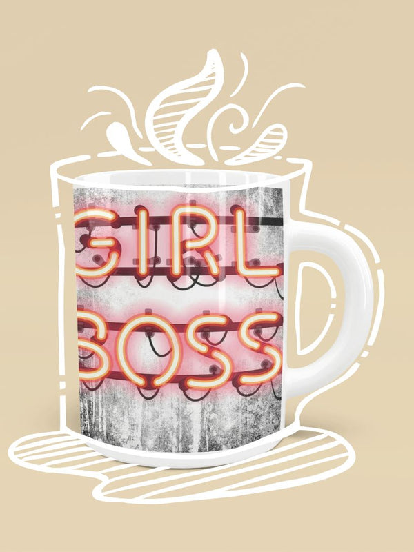 Girl Boss Neon Sign Mug