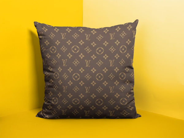 LV Brown Pattern Cushion/Pillow
