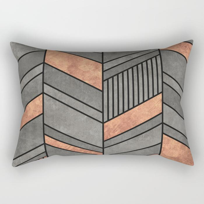 "The Pillow pillows SMALL 17"" X 12"" Abstract Chevron Rectangle Pillow"