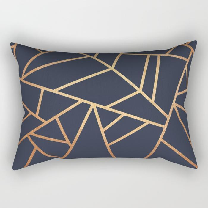 "The Pillow pillows SMALL 17"" X 12"" Abstract Copper Lines Rectangle Pillow"