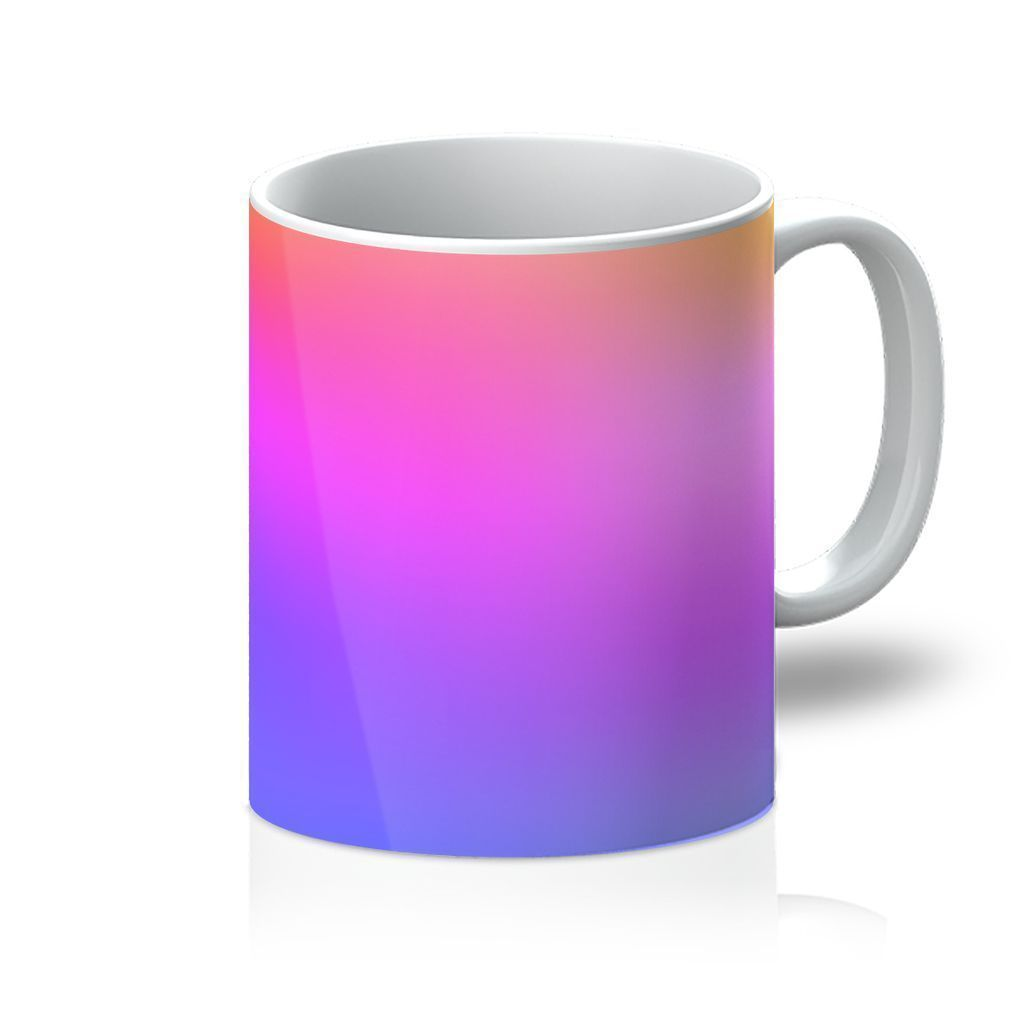VIRGIN TEEZ Homeware 11oz Abstract Gradient 3 Mug