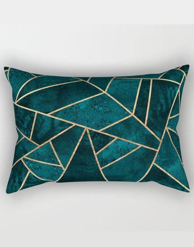 "The Pillow pillows SMALL 17"" X 12"" Abstract Stone Rectangle Pillow"