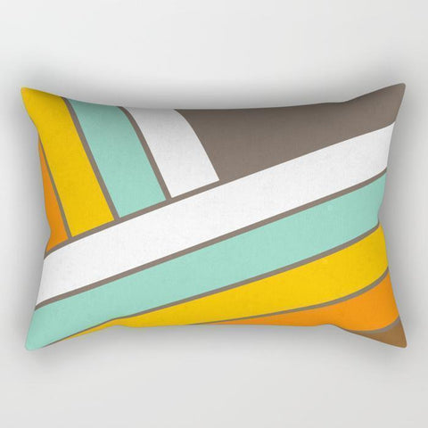 "The Pillow pillows SMALL 17"" X 12"" Abstract Stripes Rectangle Pillow"
