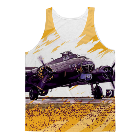 VIRGIN TEEZ Tank Tops XS B-17 Flying Fortress Classic Sublimation Adult Tank Top