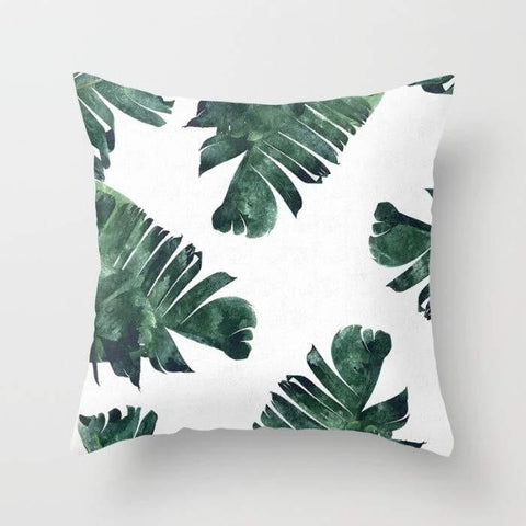 "The Pillow pillows 16"" x 16"" Banana Leaf Watercolor Pattern Cushion/Pillow"