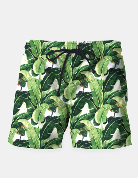 "Ayaz Ahmed Shorts SMALL (28""-18"") Banana leaves pattern Shorts"