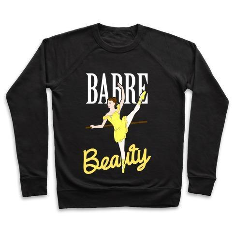 Virgin Teez  Pullover Crewneck Sweatshirt / x-small / Black BARRE BEAUTY CREWNECK SWEATSHIRT
