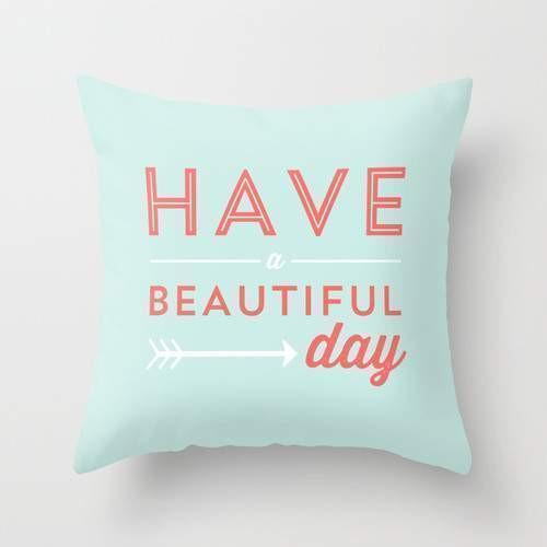 "The Pillow pillows 16"" x 16"" Beautiful Day Cushion/Pillow"