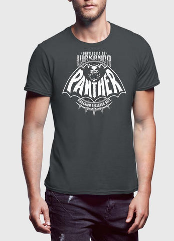 M Nidal Khan T-SHIRT SMALL Black Panther Charcoal T-shirt