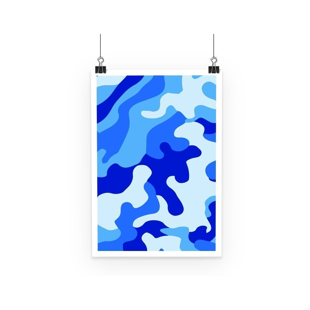 kite.ly Wall Decor A3 Blue Camo 1 Poster