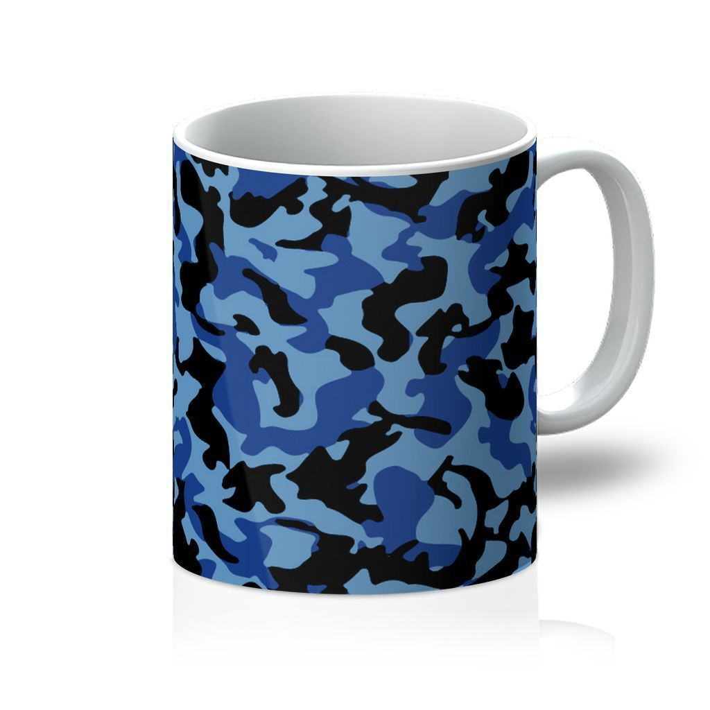 VIRGIN TEEZ Homeware 11oz Blue Camo 2 Mug