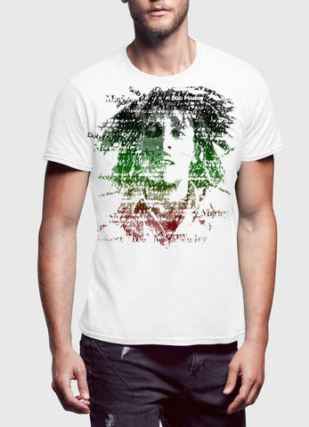 Bob Marley T-SHIRT Small / Black Bob Marley Amplified Depth Black Half Sleeve Men T-Shirt