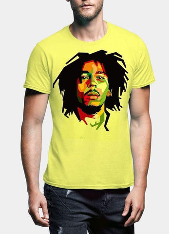 Bob Marley T-SHIRT Small / Black Bob Marley Be Happy Half Sleeve Men T-Shirt