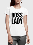 Virgin Teez Women T-Shirt SMALL / Black Boss Lady Half Sleeves Women T-shirt