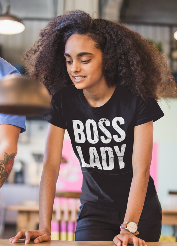 Virgin Teez Women T-Shirt SMALL Boss Lady  Women T-shirt