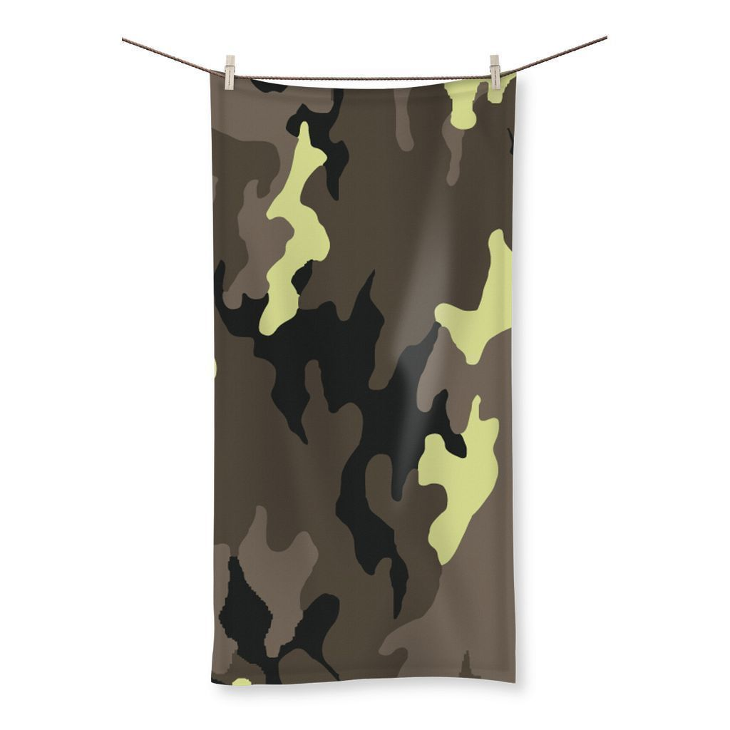 "kite.ly Homeware 19.7""x39.4"" Camofludge 10 Beach Towel"
