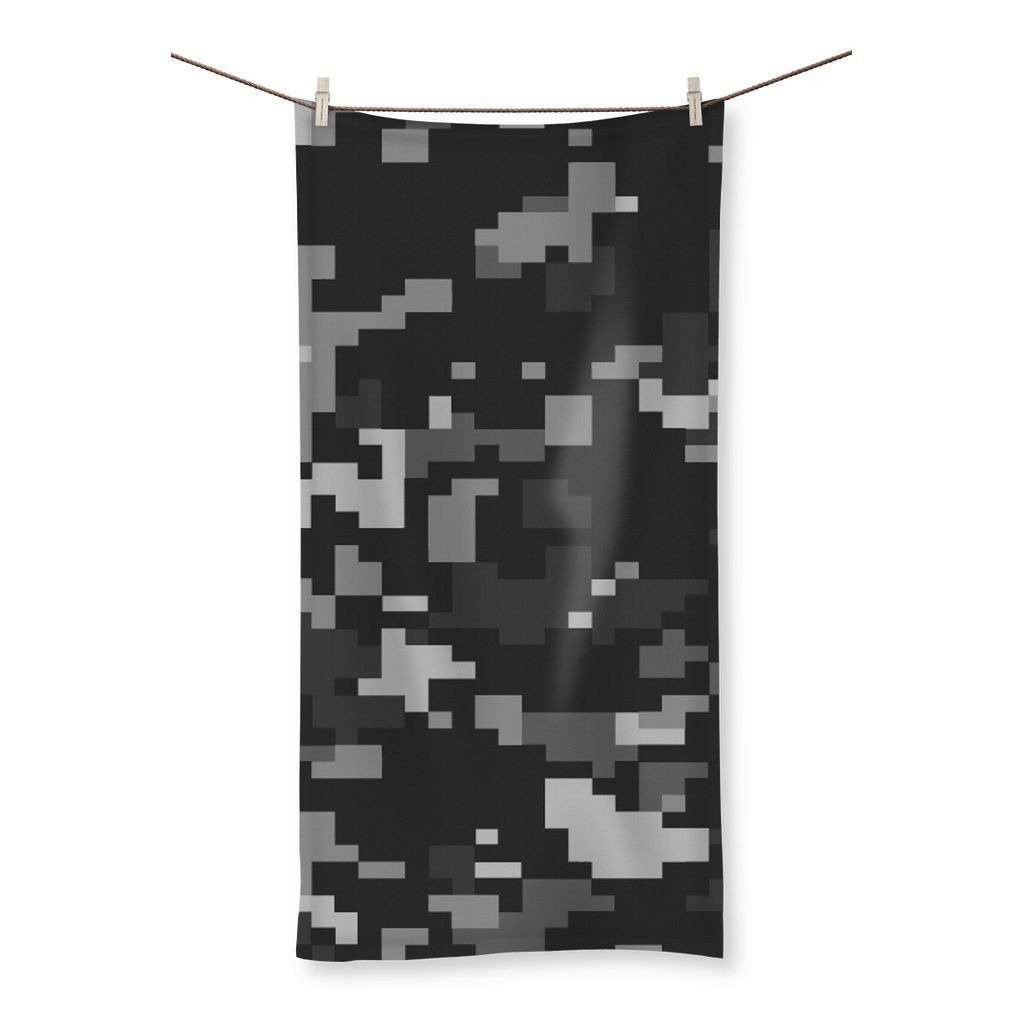 "kite.ly Homeware 19.7""x39.4"" Camofludge 4 Beach Towel"