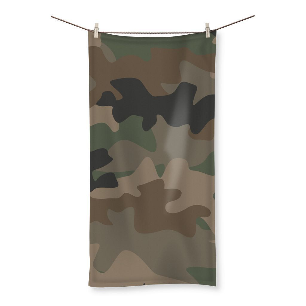"kite.ly Homeware 19.7""x39.4"" Camofludge 9 Beach Towel"