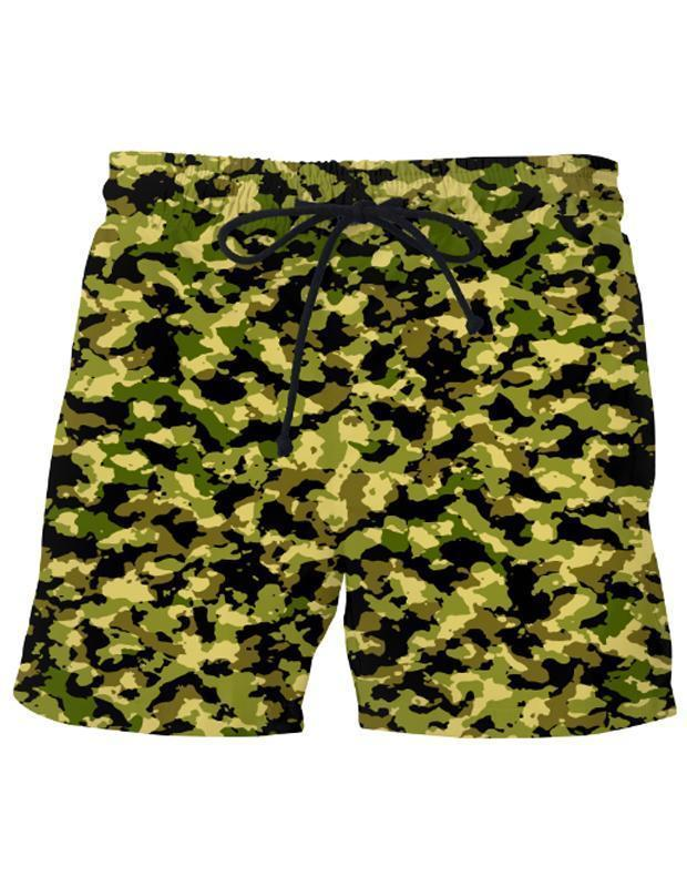 Virgin Teez Shorts Small Camouflage Swim Shorts