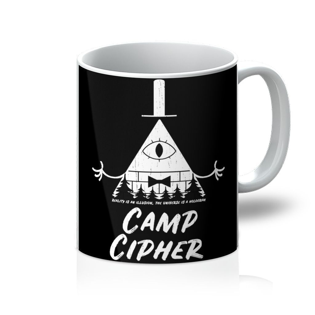 VIRGIN TEEZ Homeware 11oz Camp Cipher Mug